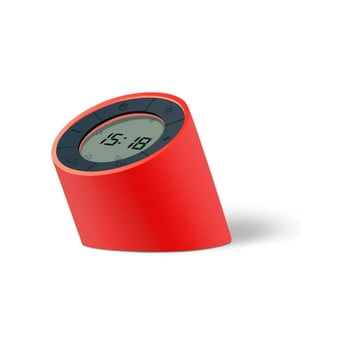 Ceas deșteptător cu LED Ginko Edge, roșu bonami.ro