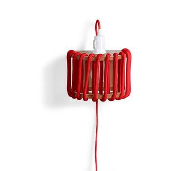 Aplică cu structură din lemn EMKO Macaron, lungime 20 cm, roșu imagine