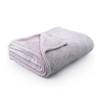 Pătură din microfibră DecoKing Fluff Powderpink, 150 x 200 cm, roz deschis bonami.ro