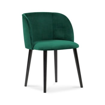 Scaun cu tapițerie de catifea Windsor & Co Sofas Aurora, verde imagine