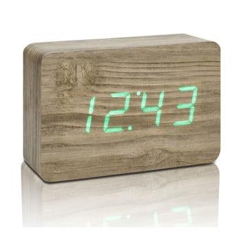 Ceas deșteptător cu LED Gingko Brick Click Clock, maro - verde bonami.ro