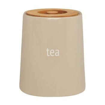 Recipient pentru ceai cu capac din lemn de bambus Premier Housewares Fletcher, 800 ml, crem bonami.ro