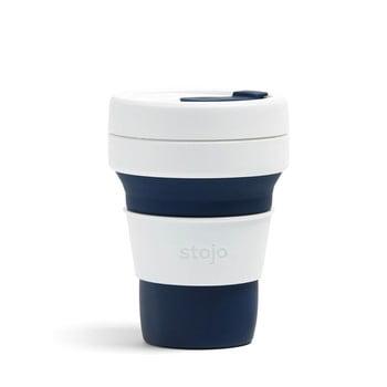 Cană pliabilă Stojo Pocket Cup, 355 ml, albastru închis - alb bonami.ro