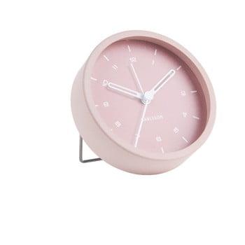 Ceas cu alarmă Karlsson Tinge, ø 9cm, roz deschis bonami.ro