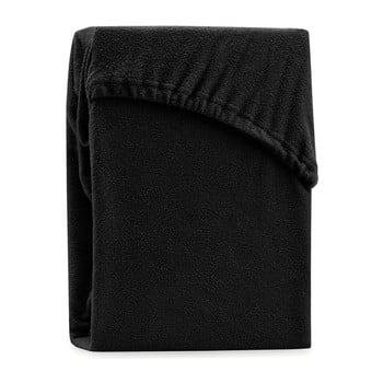 Cearșaf elastic pentru pat dublu AmeliaHome Ruby Siesta, 180-200 x 200 cm, negru bonami.ro