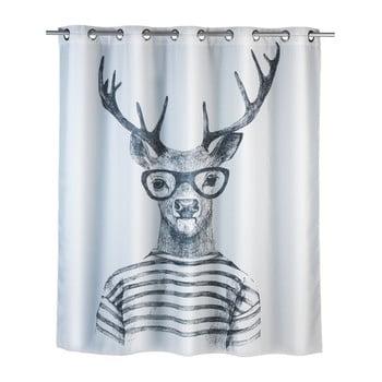 Perdea duș anti mucegai Wenko Mr. Deer, 180x200cm, alb poza bonami.ro