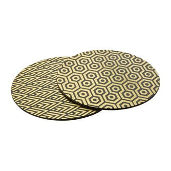 Set 4 suport farfurii din piele Premier Housewares Deco, ⌀ 25 cm bonami.ro