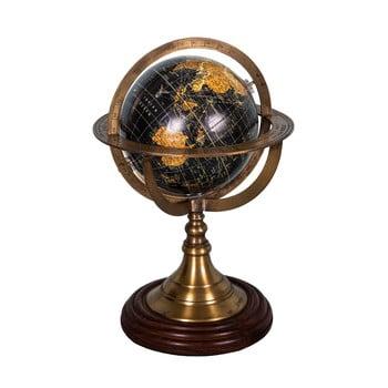 Glob decorativ cu sport din lemn de palisandru Antic Line Globe,ø17cm poza bonami.ro