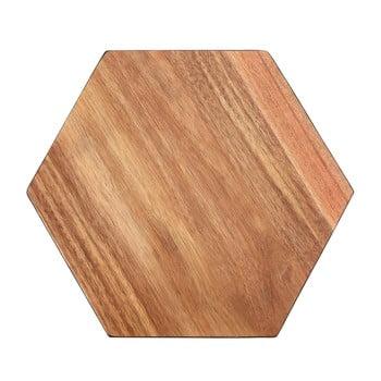 Tocător din lemn de acacia Premier Housewares Hexagon, 30 x 35 cm poza bonami.ro