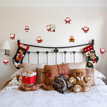 Set 9 autocolante Crăciun Ambiance Funny Santa Claus poza bonami.ro
