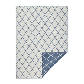 Covor adecvat pentru exterior Bougari Malaga, 200 x 290 cm, albastru - crem imagine