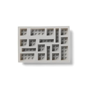 Formă din silicon pentru gheață in formă de cărămidă LEGO® Ice, gri poza bonami.ro
