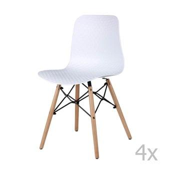 Set 4 scaune sømcasa Tina, alb poza bonami.ro