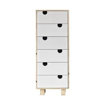 Comodă cu șase sertare Karup Design House Natural/White poza bonami.ro