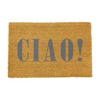 Covoraș intrare din fibre de cocos Artsy Doormats Ciao Grey, 40 x 60 cm poza bonami.ro