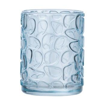 Suport sticlă pentru periuțe de dinți Wenko Vetro Foglia, albastru deschis poza bonami.ro