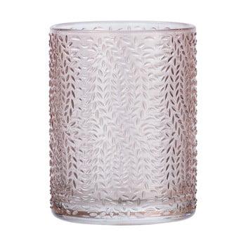 Suport sticlă pentru periuțe de dinți Wenko Vetro, roz deschis bonami.ro