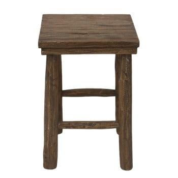 Taburet din lemn de tec HSM Collection Pank bonami.ro