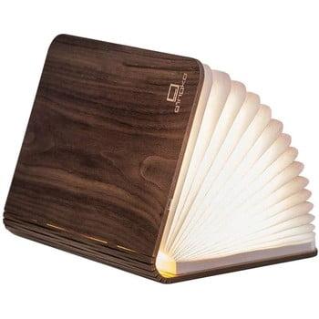 Veioză din lemn de nuc, cu LED Gingko Booklight Large, maro închis bonami.ro