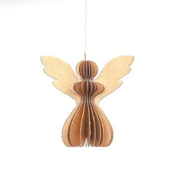 Decorațiune din hârtie pentru Crăciun, formă înger Only Natural, 12,5 x 7,5 cm, auriu bonami.ro