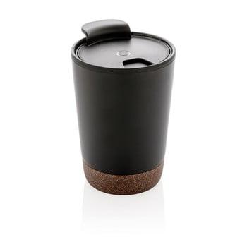 Pahar termic de voiaj cu detalii din plută XD Collection, 0,3 l, negru poza bonami.ro
