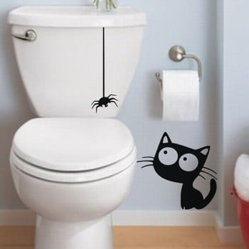 Autocolant Ambiance Cat And Spider bonami.ro