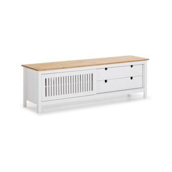 Masă TV din lemn Marckeric Bruna, alb bonami.ro