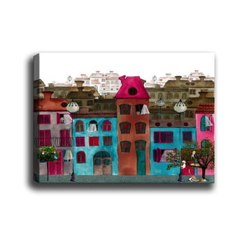 Tablou Tablo Center Colorful Houses, 60 x 40 cm bonami.ro
