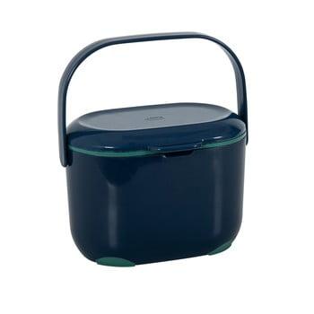 Recipient pentru compost deșeuri organice Addis Caddy, 2,5 l, albastru-verde poza bonami.ro