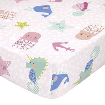 Cearșaf din bumbac pentru copii Moshi Moshi Seamaid,90 x 200 cm bonami.ro