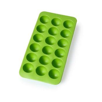 Formă din silicon pentru gheață Lékué Round, 18 cuburi, verde poza bonami.ro