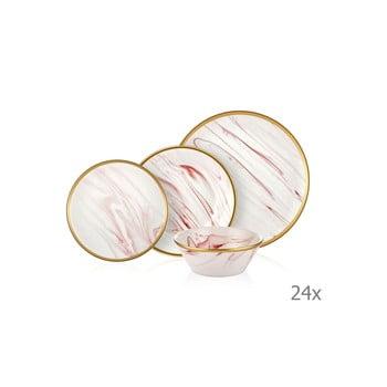 Set 24 vase din porțelan Mia Lucid Rose imagine