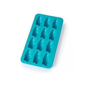 Formă din silicon pentru gheață Lékué Penguin, 12 cuburi, albastru poza bonami.ro