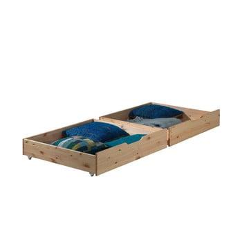 Set 2 sertare pentru pat Vipack Pino, natural imagine