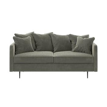 Canapea cu tapițerie din catifea Ghado Esme, 176 cm, bej bonami.ro