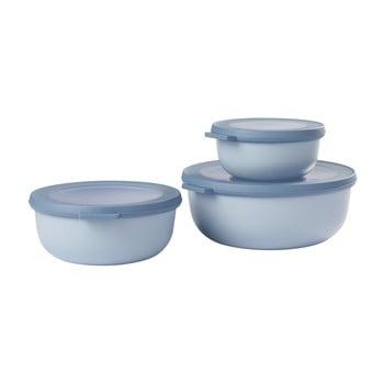 Set 3 cutii pentru gustări Rosti Mepal Cirqula, albastru poza bonami.ro