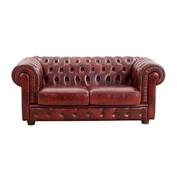 Canapea din piele cu 2 locuri Max Winzer Bridgeport, roșu bonami.ro