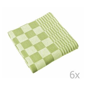 Set 6 prosoape Tiseco Home Studio Mineur, 65 x 65 cm, verde poza bonami.ro