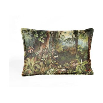 Pernă cu husă din catifea Velvet Atelier Sabana,50x35cm, verde - maro bonami.ro