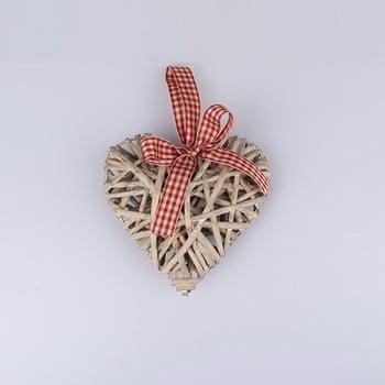 Decorațiune suspendată din ratan în formă de inimă Dakls, înălțime 15 cm poza bonami.ro