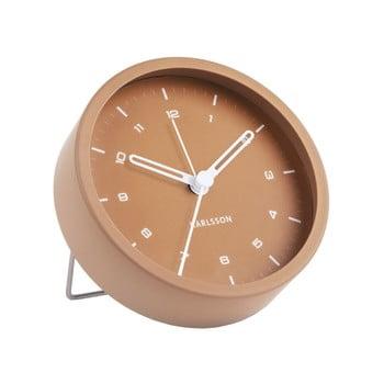 Ceas cu alarmă Karlsson Tinge, ø 9cm, maro caramel bonami.ro