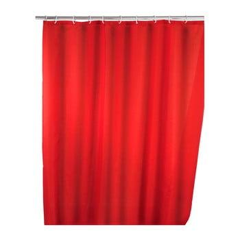 Perdea duș Wenko Puro, 180 x 200 cm, roșu poza bonami.ro