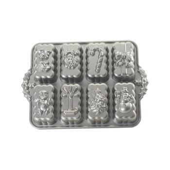 Formă pentru 8 prăjiturele Nordic Ware Christmas, 1,4 l, argintiu bonami.ro