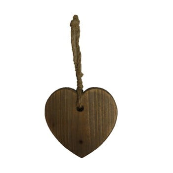 Decorațiune din lemn suspendată în formă de inimă Antic Line Coeur, maro poza bonami.ro