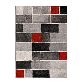 Covor Universal Lucy Dice, 160 x 230 cm, gri-roșu imagine