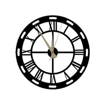 Ceas de perete Roman Clock, 48 x 50 cm, negru bonami.ro
