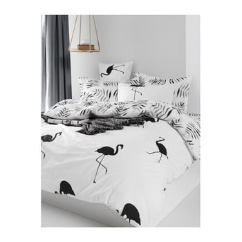 Lenjerie de pat din bumbac ranforce pentru pat de 1 persoană Mijolnir Hope Black, 140 x 200 cm bonami.ro