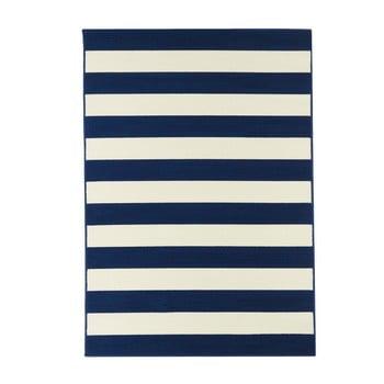Covor adecvat pentru exterior Floorita Stripes, 160x230cm, albastru - alb poza bonami.ro
