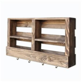 Raft din lemn pentru perete și cârlige Ayako bonami.ro