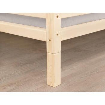 Set 4 picioare înălțătoare din lemn lăcuit de molid natural pentru patul Benlemi,înălțime20cm bonami.ro